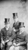 Original title:  W.L. Mackenzie King with his brother Macdougall King and their father John King.