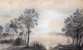 Original title:  Looking west from about mouth of Don River.; Author: Simcoe, Elizabeth Posthuma (Gwillim), (1762-1850); Author: Year/Format: 1793, Picture