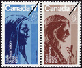 Original title:  Kateri Tekakwitha, Marie de l'Incarnation [philatelic record].  Philatelic issue data Canada : 17 cents [x 2] Date of issue 24 April 1981