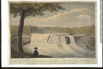 Original title:  Print A South East View of the Great Cataract on the Casconchiagon or Little Seneca's River, on Lake Ontario Thomas Davies About 1768, 18th century 37.5 x 52.3 cm M19958 © McCord Museum Keywords:  Print (10661) , waterfall (388) , Waterscape (2986)