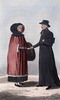 Titre original :  A French Canadian Lady in her Winter Dress and a Roman Catholic Priest.