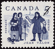 Titre original :  Jean Talon [philatelic record].  Philatelic issue data Canada : 5 cents Date of issue 13 June 1962