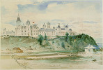Original title:  Parliament Buildings, Ottawa by Otto Reinhold Jacobi, 1866.   Owner/Keeper: Montreal Museum of Fine Arts.