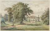 Original title:  Henri Perré, The Grange, c. 1880. Watercolour, opaque watercolour, graphite on paper. Sheet: 31.4 x 51 cm. Art Gallery of Ontario, Goldwin Smith Collection, 1911. Image © 2018 Art Gallery of Ontario.