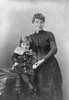 Original title:  Lady Lougheed and little boy. Photographer/Illustrator: Notman, William and Son, Montreal, Quebec. Image courtesy of Glenbow Museum, Calgary, Alberta.
