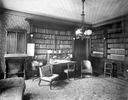 Original title:  Robinson, Sir John Beverley, BT, 'Beverley House', Richmond St. W., n.e. cor. John St.; Interior, library.; Author: Unknown; Author: Year/Format: 1911, Picture