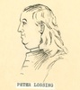 Original title:  Sketch of Peter Lossing by an unknown artist at an unknown date. Image courtesy of Norwich and District Historical Society.