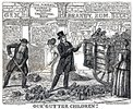 "Titre original :  ""Our 'Gutter Children'"" by George Cruikshank. 1869."