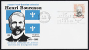 Titre original :  [Henri Bourassa] [philatelic record].  Philatelic issue data 5 cents