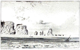 Original title:    Description Cape Split Date 1836(1836) Source Abraham Gesner. Remarks on the geology and mineralogy of Nova Scotia. Printed by Gossip and Coade, 1836. Author B.F. Nutting