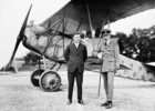 Original title:  (War Trophy) Major W.A. Bishop and Lt. Col. W.G. Barker in front of a Fokker D. VII.