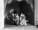 Original title:  A family group: Miss Margaret Gibson, Miss Eugenia Gibson, Sir John M. Gibson, Lady Gibson and Mr. Hope Gibson.