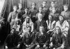 Original title:  Elders and Indian soldiers in the uniform of the Canadian Expeditionary Force.