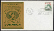 Original title:  [Emily Pauline Johnson] [philatelic record].  Philatelic issue data 5 cents