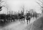 Original title:  Canadian troops entering Germany en route to the Rhine River.