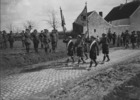 Titre original :  (W.W.I - 1914 - 1918) 72nd Inf. Bn marching past Gen Currie ohain Belgium. April 1919.