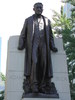 Original title:    Statue of Sir Adam Beck, located on a traffic island on University Avenue by Queen Street East in Toronto. Statue originally erected in 1934. Picture taken July 30 2005.
