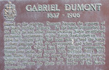 Original title:  Dumont: Historical marker, Duck Lake battlefield.