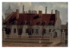 Titre original :  Chateau Ramezay,  painting by Henry Richards Bunnett, 1886.  Built in 1705,  it was one of the residences owned by C. de Ramezay.