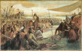 Titre original :    Description English: Crowfoot talking to Lorne marquis during an Indians assembly in Blackfoot Crossing, Alberta, September 10, 1881 Français : Crowfoot s'adressant au marquis de Lorne durant une assemblée d'Indiens à Blackfoot Crossing en Alberta le 10 septembre 1881 Date c. 1887 Source Library and Archives Canada Author Hall, Sydney Prior (1842-1922) Permission (Reusing this file) circa 1887