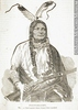 Original title:  M932.8.1.222 | Poundmaker, chef cri attaqué par le colonel Otter, vers 1880