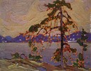 Titre original :    Description English: Oil sketch for The Jack Pine Date 1916(1916) Source public Internet Author Tom Thomson