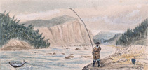 Original title:  Salmon Fishing, Lower Canada,.