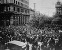 Original title:    Description English: Crowd gathered outside old City Hall, at Main Street and William Avenue, during the Winnipeg General Strike. Visible on the left are the Union Bank of Canada building and Leland Hotel. Français : Foule rassemblée aux alentours de l'ancien hôtel de ville de Winnipeg, sur Main Street et William Avenue, lors de la grève générale de Winnipeg de 1919. Date 21 June 1919(1919-06-21) Source This image is available from Library and Archives Canada under the reproduction reference number PA-163001 and under the MIKAN ID number 3192170 This tag does not indicate the copyright status of the attached work. A normal copyright tag is still required. See Commons:Licensing for more information. Library and Archives Canada does not allow free use of its copyrighted works. See Category:Images from Library and Archives Canada. Author The Montreal Star Publishing Company [1] / P