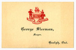 Original title:  George Sleeman Sr.'s business card as Mayor of Guelph