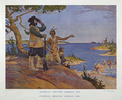 Original title:  Champlain discovers Georgian Bay.