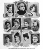 "Titre original :    Description First presidential board, Fédération nationale Saint-Jean-Baptiste, Montréal, 1907. From right to left : Top : Caroline Dessaulles-Béique, Lady Jetté, Marie Lacoste Gérin-Lajoie ; Middle : Marie-Louise Globensky (Lady Lacoste), Marguerite Thibaudeau, ""Mme Arthur Gagnon"", ""Mme Henry Hamilton"" ; Bottom : Madeleine Huguenin, ""Mme Leman"", Victoria Cartier, Robertine Barry. Date 1907(1907) Source Le Passe-Temps, vol. 13, no 319, 15 juin 1907, frontpage Author This file is lacking author information."
