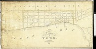 Original title:  Historical Maps of Toronto: 1827 Chewett Plan of the Town of York