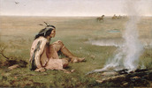 Original title:    Description Left to Die (A sole Plains Indian left to die on the prairies by his people.) Date 1872(1872) Source Library and Archives Canada, Acc. No. 1986-28-1 This image is available from Library and Archives Canada This tag does not indicate the copyright status of the attached work. A normal copyright tag is still required. See Commons:Licensing for more information. Library and Archives Canada does not allow free use of its copyrighted works. See Category:Images from Library and Archives Canada. Author Hopkins, Frances Anne (1838-1919) Permission (Reusing this file) Copyright expired