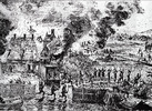 Original title:    Description Français : Incendie de Port-Royal à la suite de l'attaque de Samuel Argall en 1613 Date Unknown Source http://www.collectionscanada.gc.ca/settlement/kids/021013-150-f.php?uid=021013-nlc008884&uidc=recKey Author An illustrated history of Nova Scotia Harry Bruce -- Halifax, N.S. : Nimbus, c1997. -- 300 p. :bill., maps, ports. ; 24 cm. -- ISBN 1551092190. -- P. 51