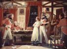 Original title:  Meeting Between Laura Secord and Lieut. Fitzgibbon, June 1813.