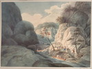 Titre original :  Rapid of La Dalle, French River, Ontario; Author: WOOLFORD, JOHN ELLIOTT (1778-1866); Author: Year/Format: 1821, Picture