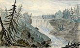 Original title:  Kakabeka Falls, Kaministiquia River; Author: FLEMING, JOHN ARNOT (1835-1876); Author: Year/Format: 1857, Picture
