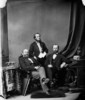 Original title:  L. to R.: Hon. George Luther Hatheway, (Premier of New Brunswick), Hon. William Wedderburn, and Hon. Stevenson, (Surveyor-General of New Brunswick)