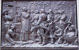 "Original title:    Description Français : Bas-relief de Louis-Philippe Hébert, 1895, Monument à Maisonneuve, Place d'Armes, Montréal. Date 23 May 2011(2011-05-23) Source Own work Author Jean Gagnon  Camera location 45° 30' 17.25"" N, 73° 33' 26.18"" W This and other images at their locations on: Google Maps - Google Earth - OpenStreetMap (Info)45.504792;-73.557273  Première messe à Ville-Marie en 1642 par le père Barthelemy Vimont, jésuite."