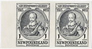 Original title:  1583-1933, Sir Humphrey Gilbert : [Portrait] [philatelic record].  Philatelic issue data Newfoundland : 1 cent