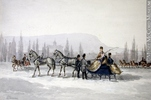 Titre original :  Painting Sleighing James Duncan (1806-1881) 1850-1870, 19th century Watercolour and graphite on paper 15.7 x 23.2 cm Gift of Mr. David Ross McCord M311 © McCord Museum Keywords:  Genre (188) , Painting (2229) , painting (2226)