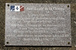 Original title:    Description Français : Abjat sur Bandiat, Dordogne, France - Plaque devant l'église d'Abjat en mémoire de Jean Léger de la Grange, Corsaire du Roy né a Abjat le 19 Juin 1663. Plaque posé le 1er septembre 2012. Date 28 October 2012 Source Own work Author Traumrune Attribution (required by the license) © Traumrune / Wikimedia Commons / CC-BY-3.0
