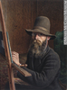 Original title:  Painting Self-portrait William George Richardson Hind About 1862-1863, 19th century 30.3 x 22.6 cm Gift of Mr. David Ross McCord M459 © McCord Museum Description Keywords:  male (26812) , Painting (2229) , painting (2226) , portrait (53878)