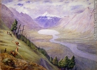 Original title:  Painting The Leather Pass, Rocky Mountains William George Richardson Hind About 1862, 19th century Watercolour and graphite on paper 22.6 x 31.2 cm Gift of Mr. David Ross McCord M472 © McCord Museum Keywords:  Landscape (2230) , Painting (2229) , painting (2226)