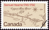 Titre original :  Samuel Hearne, 1745-1792 [philatelic record].  Philatelic issue data Canada : 6 cents Date of issue 7 May 1971