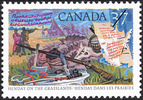 Titre original :  Henday on the grasslands = Henday dans les praries [philatelic record].  Philatelic issue data Canada : 37 cents