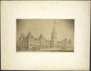 Original title:  Parliament Buildings, Ottawa: Front View.