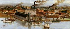 Original title:    Description English: Gooderham and Worts Ltd., Toronto Canada, Canadian Rye Whiskey Date no date (According to the Distillery Heritage Site, painting dates to 1896) Source This image is available from Library and Archives Canada under the reproduction reference number C-151590 This tag does not indicate the copyright status of the attached work. A normal copyright tag is still required. See Commons:Licensing for more information. Library and Archives Canada does not allow free use of its copyrighted works. See Category:Images from Library and Archives Canada. Author Hider, A.H Permission (Reusing this file) Copyright expired. As a pre-1946 Canadian image, also public domain in the United States.  History of Toronto, Canada 1780s •1790s • 1800s • 1810s • 1820s • 1830s • 1840s • 1850s • 1860s • 1870s • 1880s • 1890s • 1900s • 1910s • 1920s • 1930s • 1940s • 1950s • 1960s • 1970s •