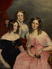 Titre original :  Artist: George Theodore Berthon (1806 - 1892). Title: The Three Robinson Sisters. Date: 1846.