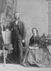 Original title:  Photograph Professor Cornish and lady, Montreal, QC, 1866 William Notman (1826-1891) 1866, 19th century Silver salts on paper mounted on paper - Albumen process 14 x 10 cm Purchase from Associated Screen News Ltd. I-23778.1 © McCord Museum Keywords:  mixed (2246) , Photograph (77678) , portrait (53878)